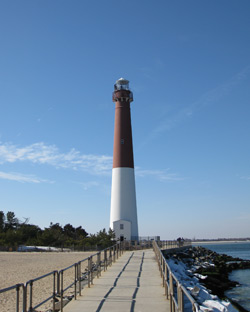 Old Barney Lighthouse form the jetty walkway