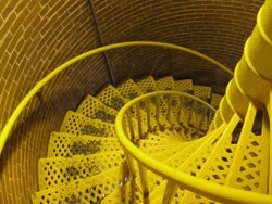the spiral staircase in the Barnegat Lighthouse